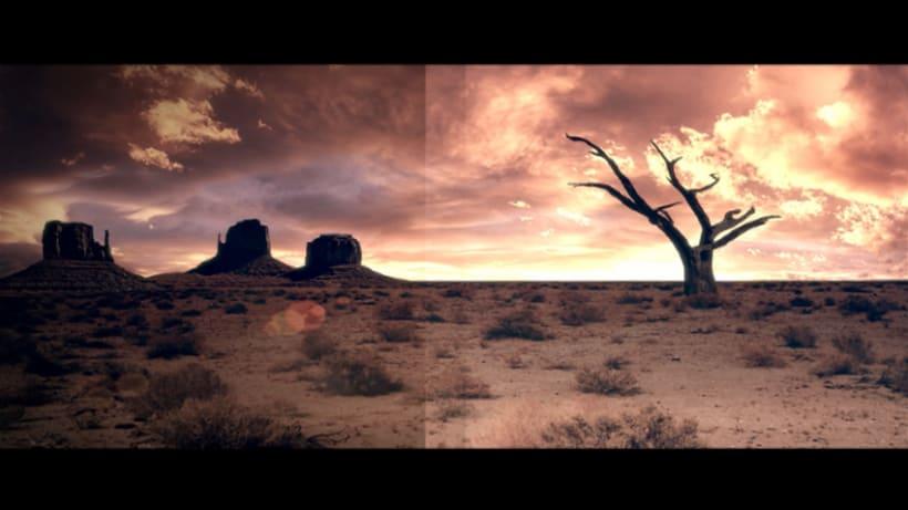 MattePainting y proyeccion - Desierto 1