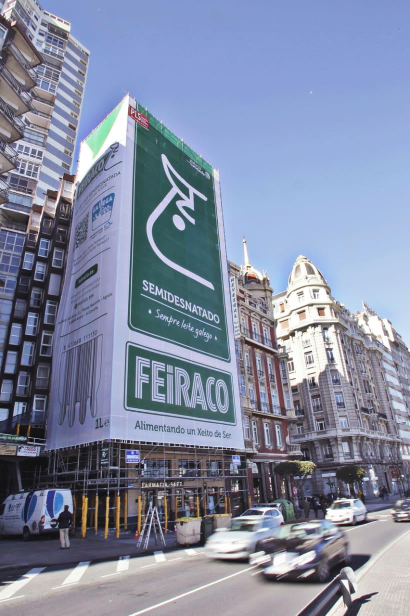 Feiraco - Un céntrico edificio convertido en un brik de leche de 31 metros 0