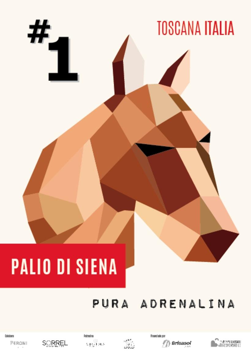 POSTER Palio Di Siena -1