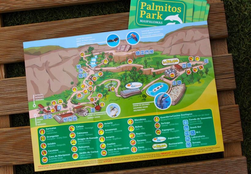 Palmitos Park - Ilustración de mapa  0