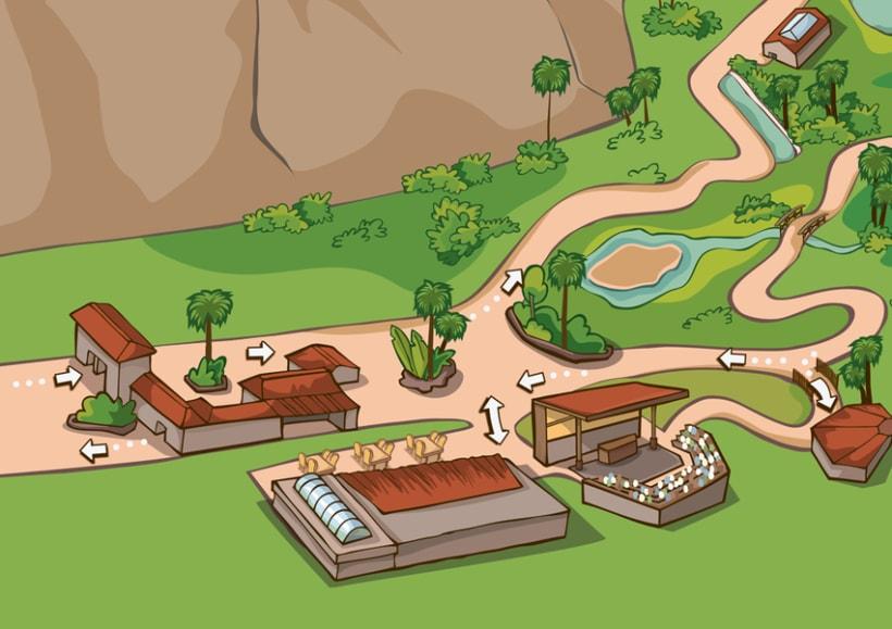 Palmitos Park - Ilustración de mapa  1