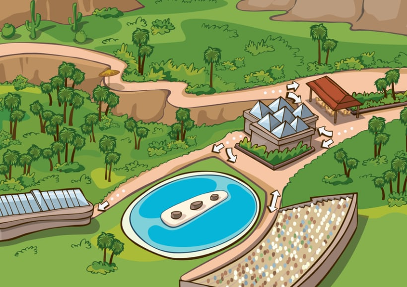 Palmitos Park - Ilustración de mapa  2