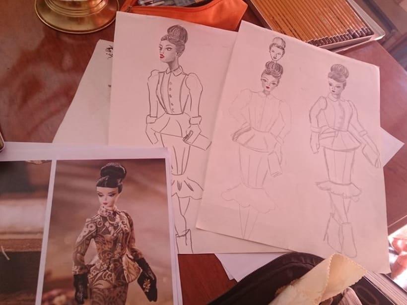 Esbozos proyecto moda Barbie -1