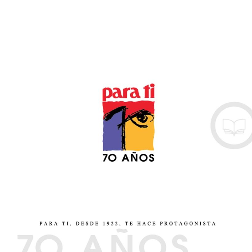 Logotipo 70 Aniversario Revista Femenina 0