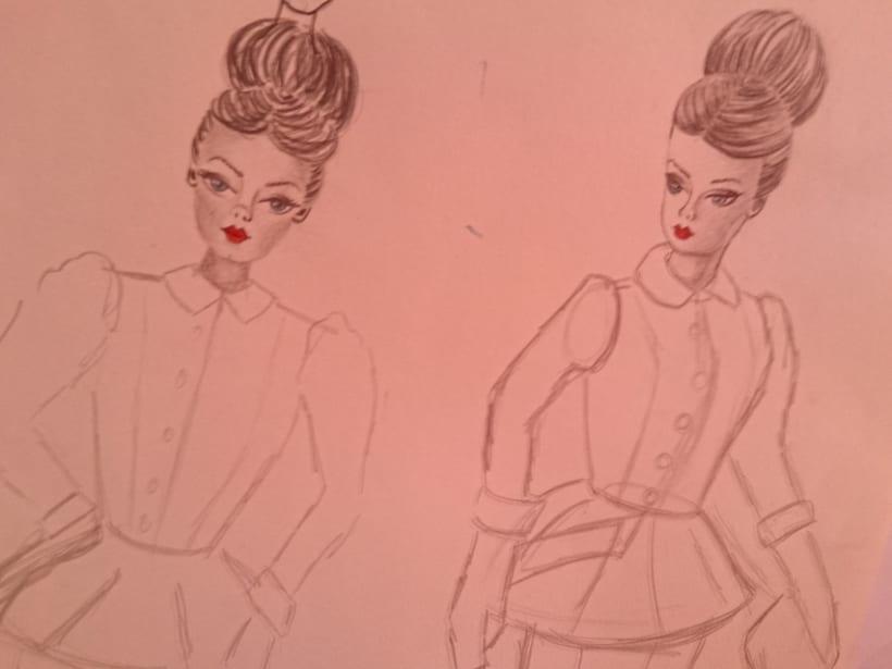 Esbozos proyecto moda Barbie 1