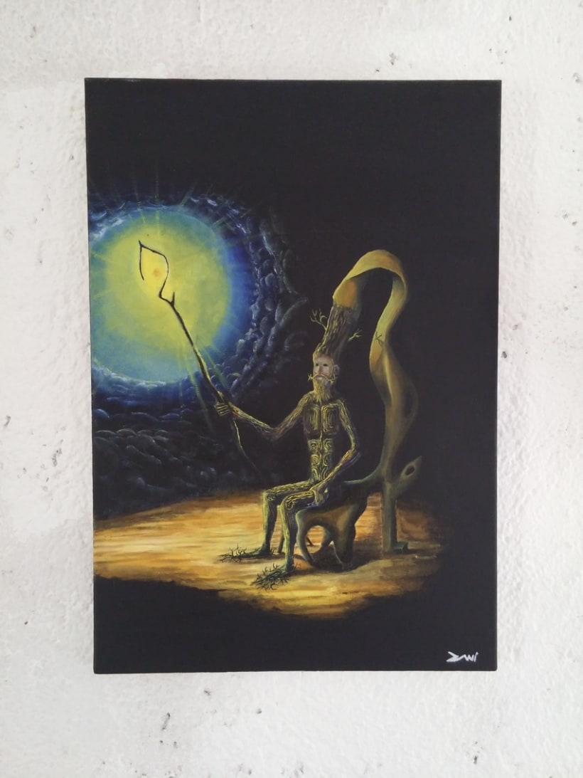 """Pintura al Óleo - """"Abuelo"""" Dedicado a """"Josep Bassas"""" 0"""