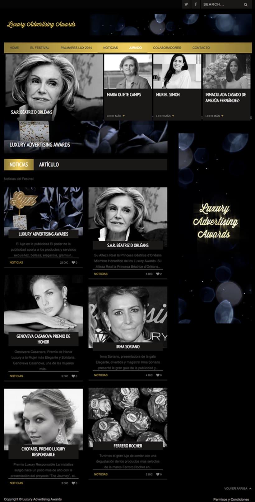 Luxury Advertising Awards Web 2
