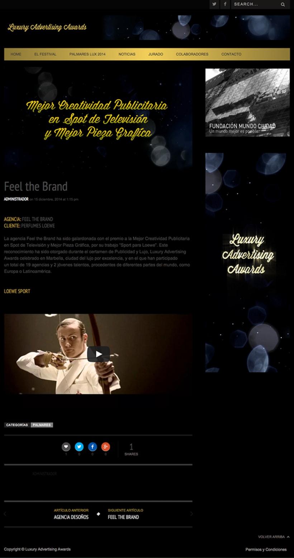 Luxury Advertising Awards Web 5