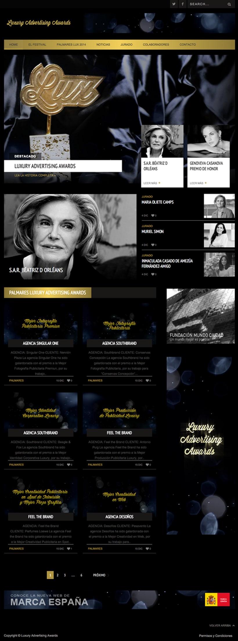 Luxury Advertising Awards Web 1