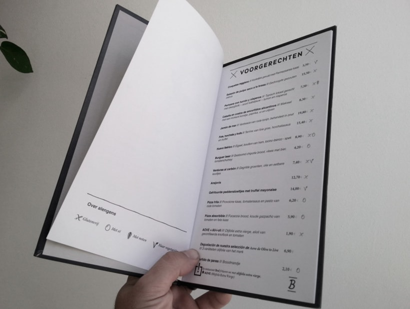 Restaurante Brel | Diseño de cartas + señalética 4