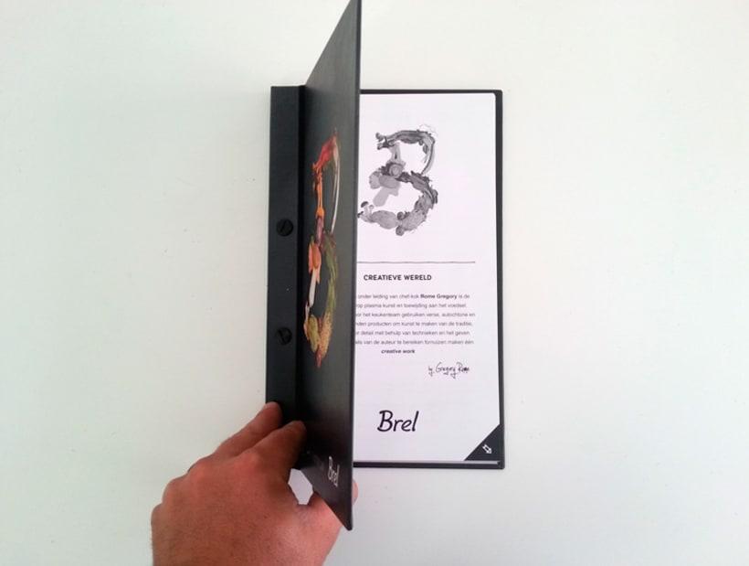 Restaurante Brel | Diseño de cartas + señalética 5