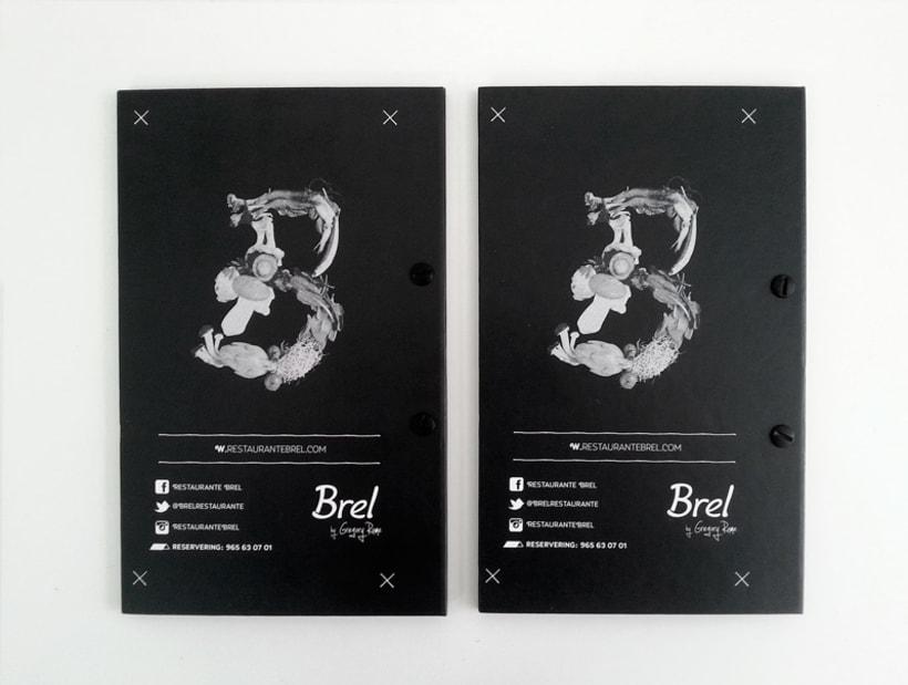 Restaurante Brel | Diseño de cartas + señalética 7