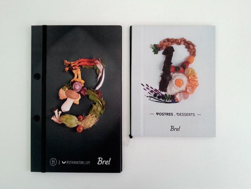 Restaurante Brel | Diseño de cartas + señalética 8