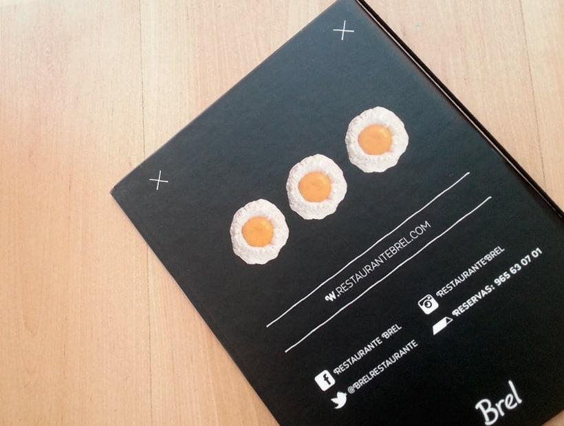 Restaurante Brel | Diseño de cartas + señalética 10