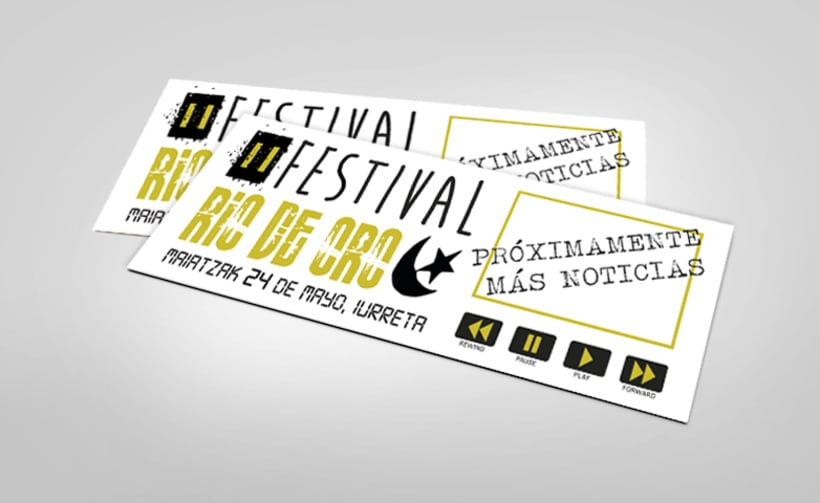 "Cartel ""Festival Rio de Oro"" 0"