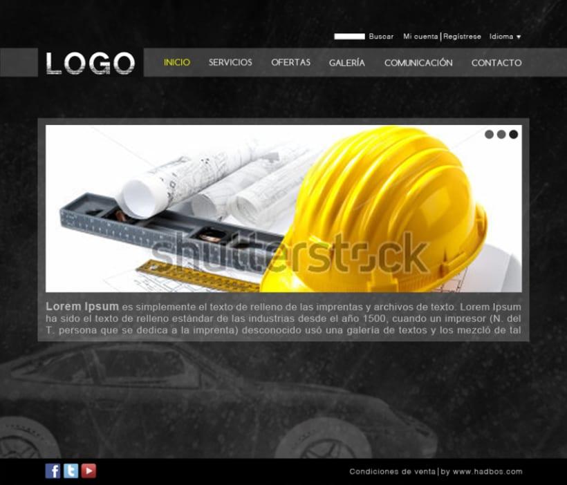 Diseño de plantilla web -1