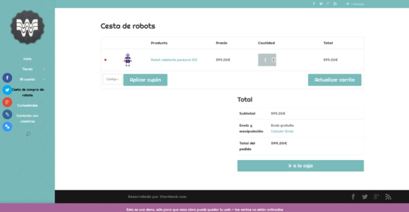 Woopa, tienda online Wordpress + Woocommerce 3