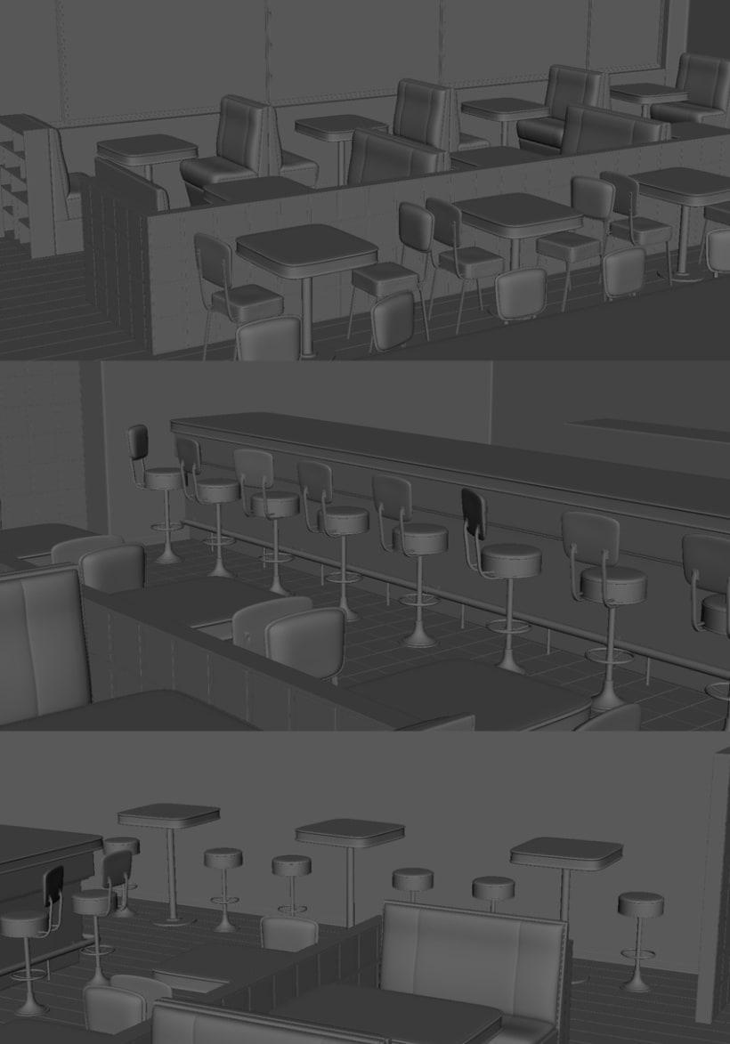 3D - Restaurante -1