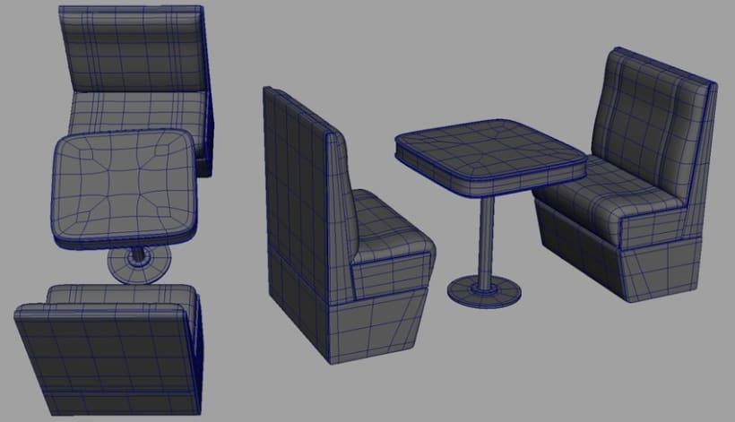 3D - Restaurante 3