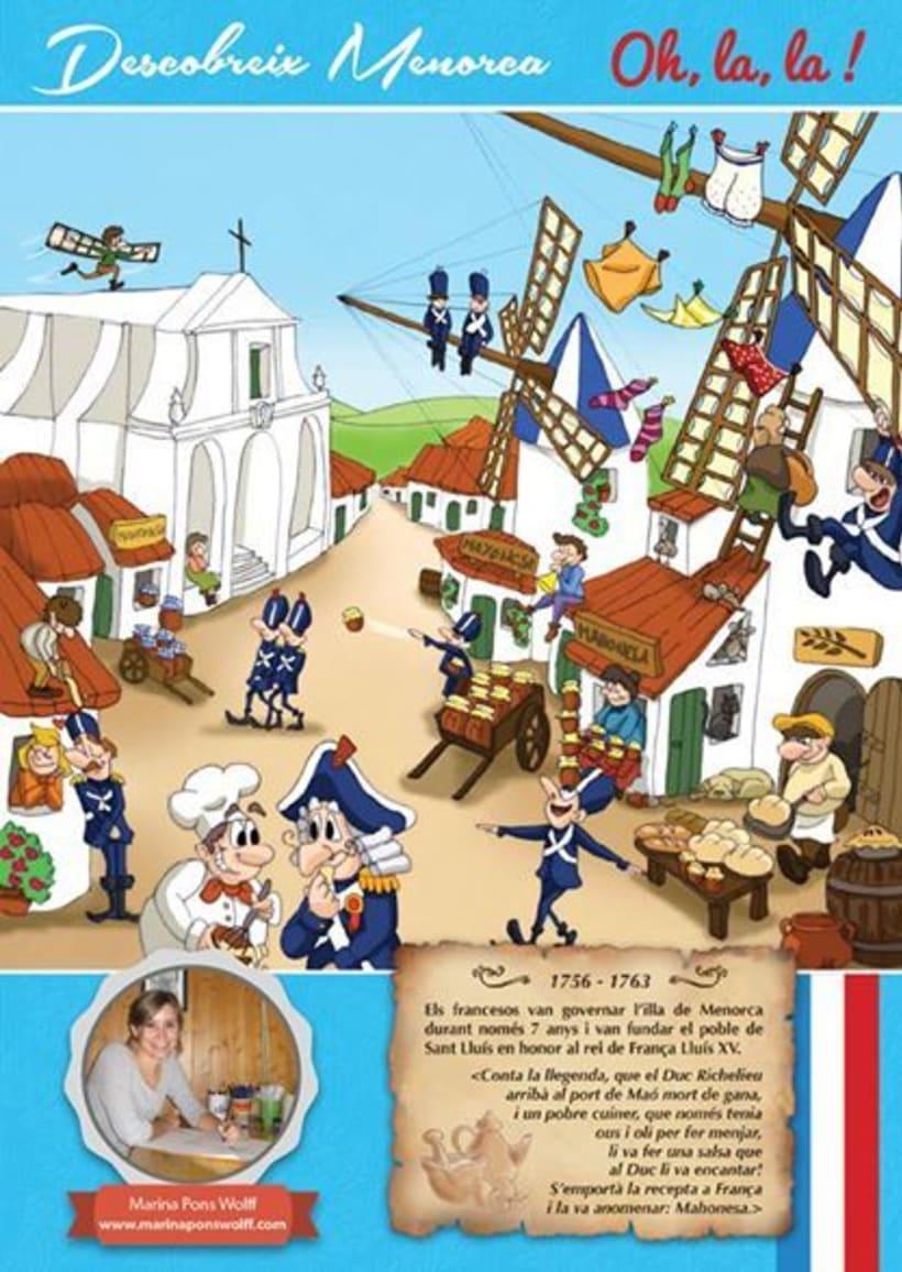 Historia de Menorca ilustrada para revista infantil El Escondite 3