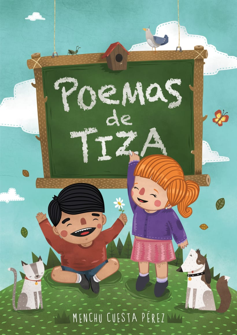 BOOK COVER - POEMAS DE TIZA -1