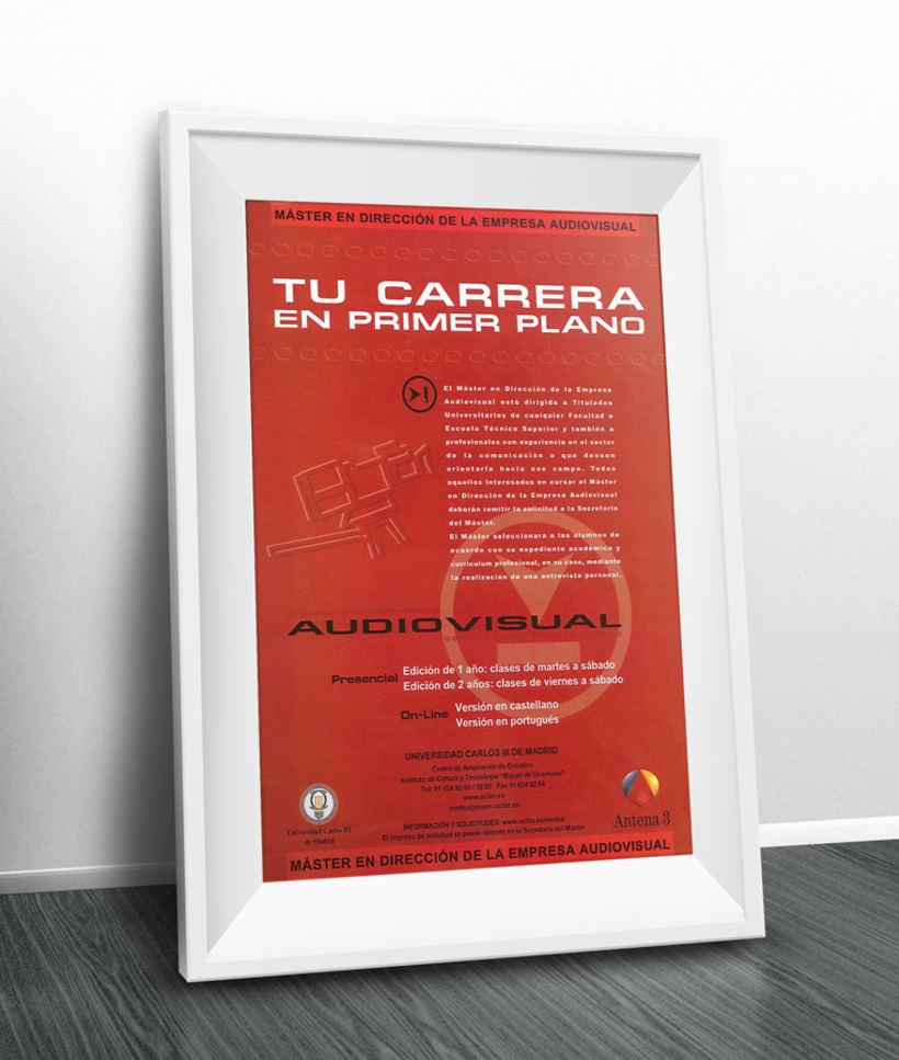 Universidad Carlos III. Cartel Carrera Audiovisual 0