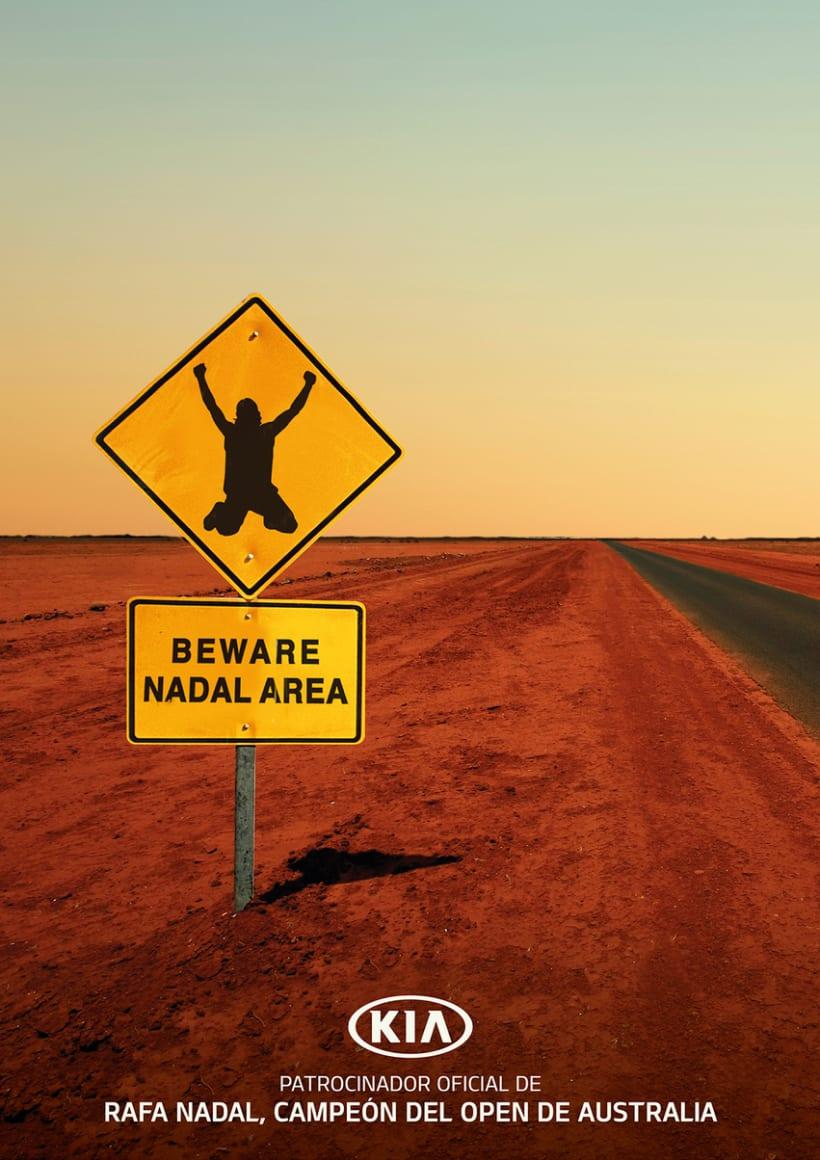 Kia: carteles Rafa Nadal 3