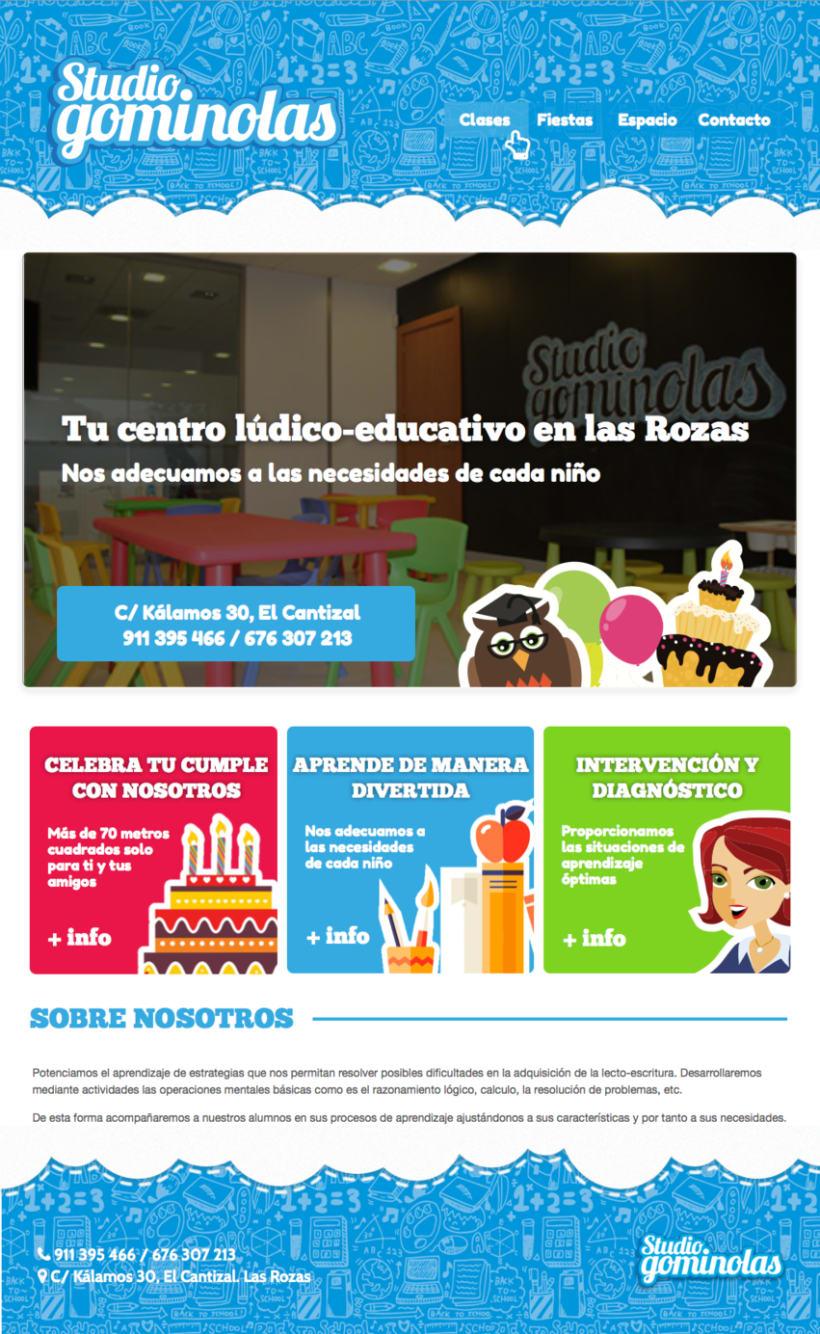 Rediseño web Studio Gominolas 0