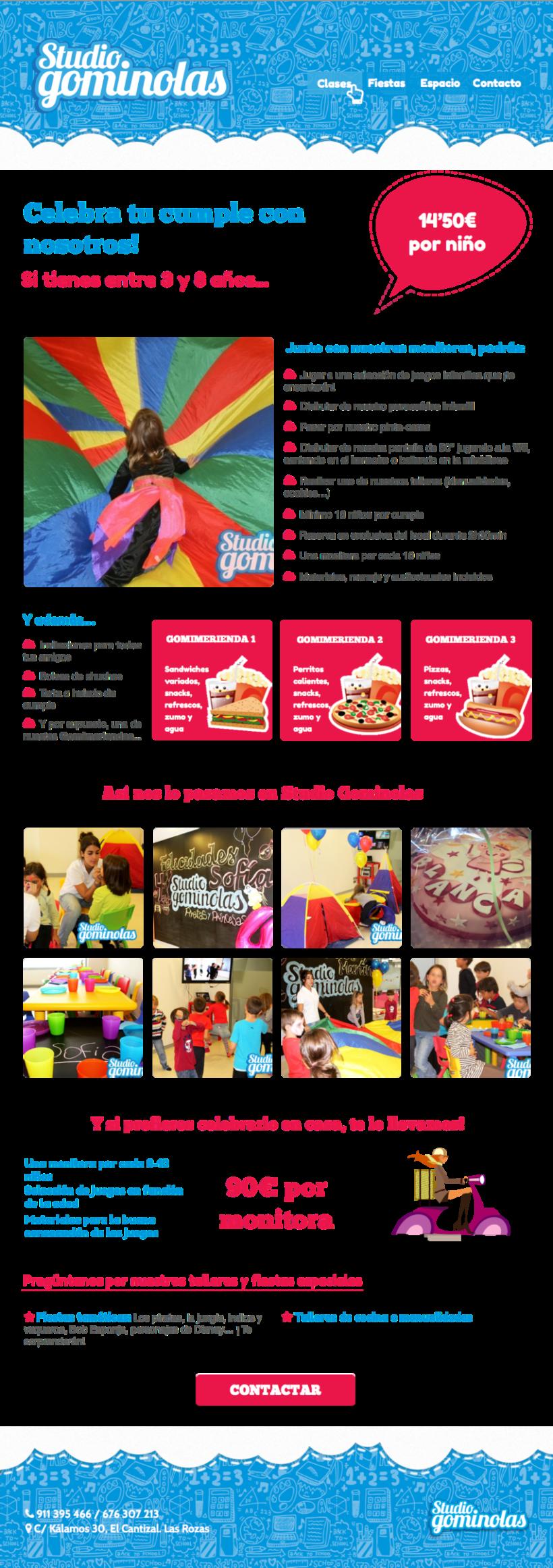 Rediseño web Studio Gominolas 2