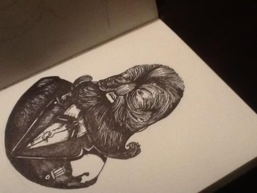 un poco de grabado y bocetos a mano  3