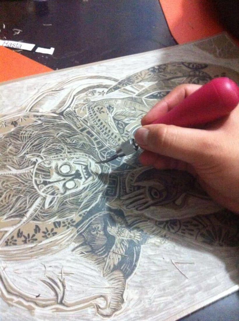 un poco de grabado y bocetos a mano  2