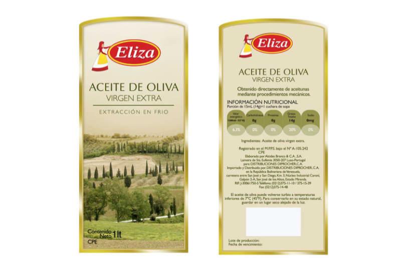 Dise o de etiqueta para aceite de oliva eliza domestika - Diseno de chimeneas para casas ...