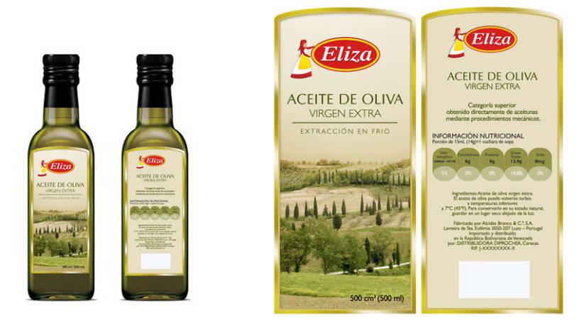 Diseño de etiqueta para Aceite de Oliva Eliza -1