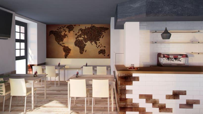 3D Cafetería en Goya 1
