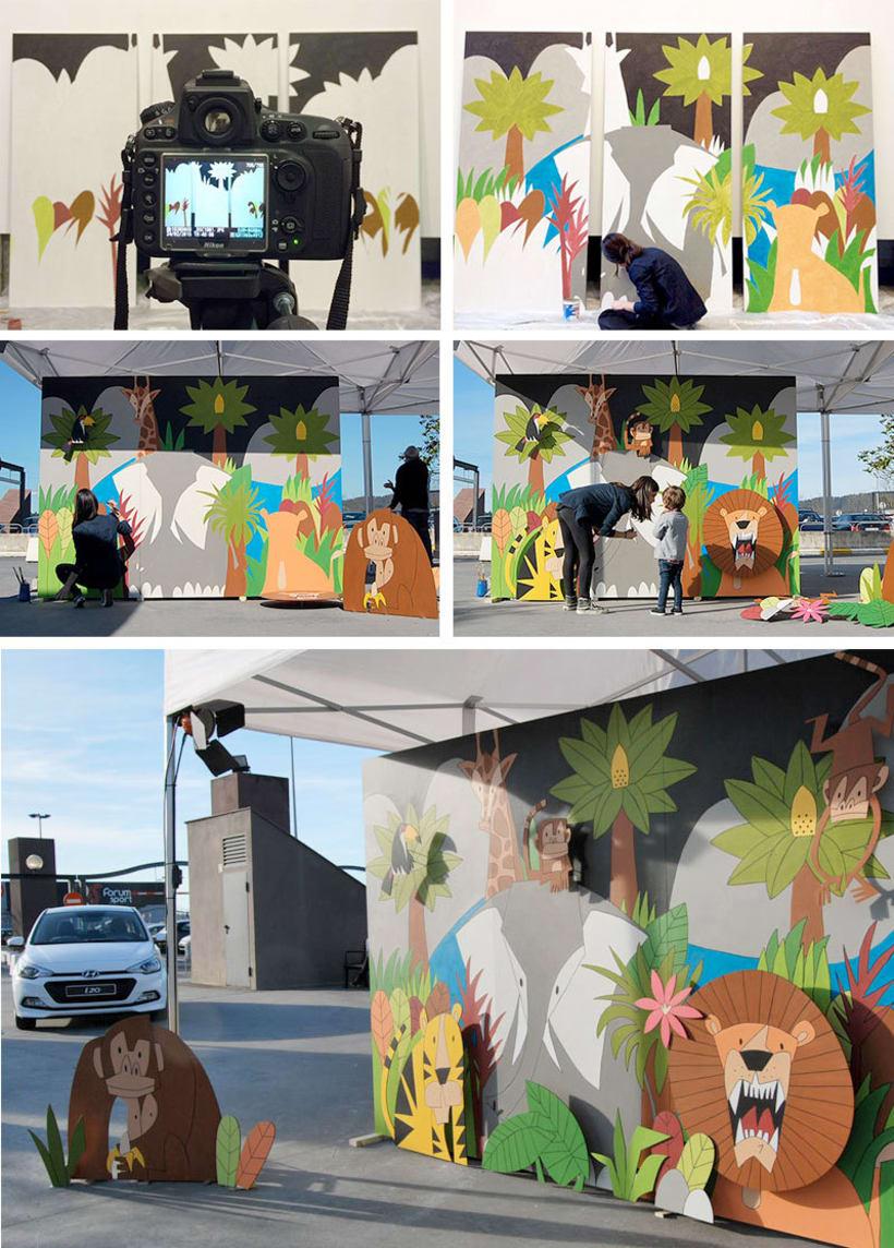 Mural Selva para nuevo Hyundai i20  2