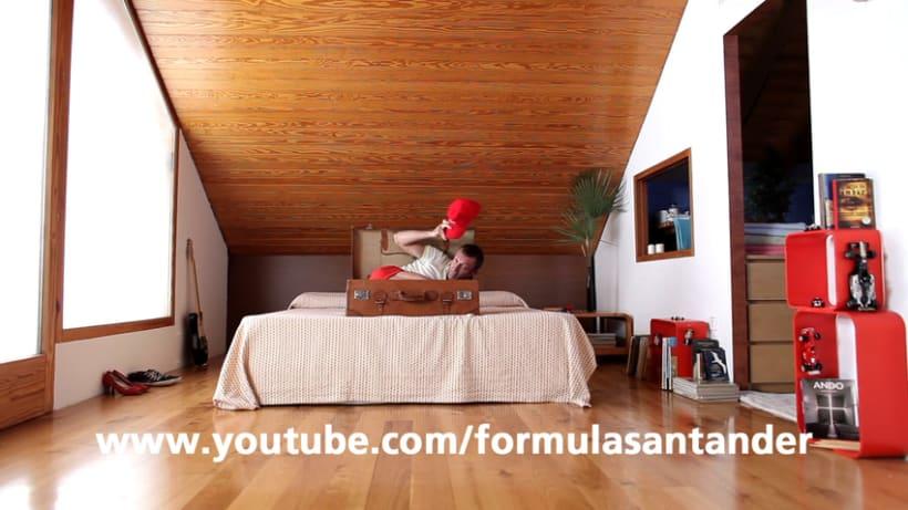 Copy campaña online formulasantander patrocinio Ferrari F1 0