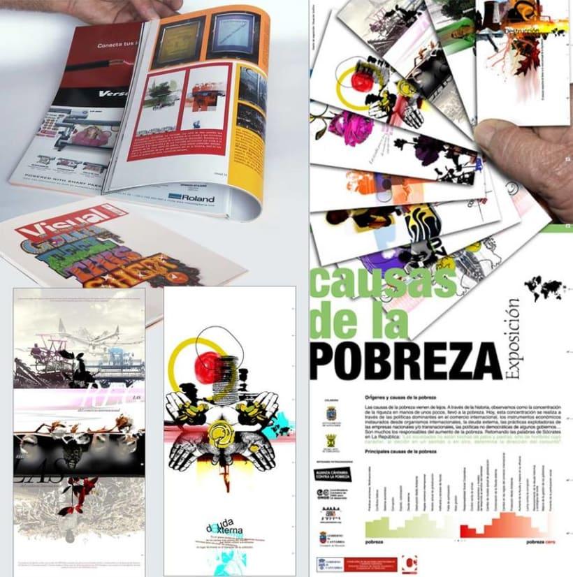 Exposición de carteles sobre las razones de la Pobreza -1
