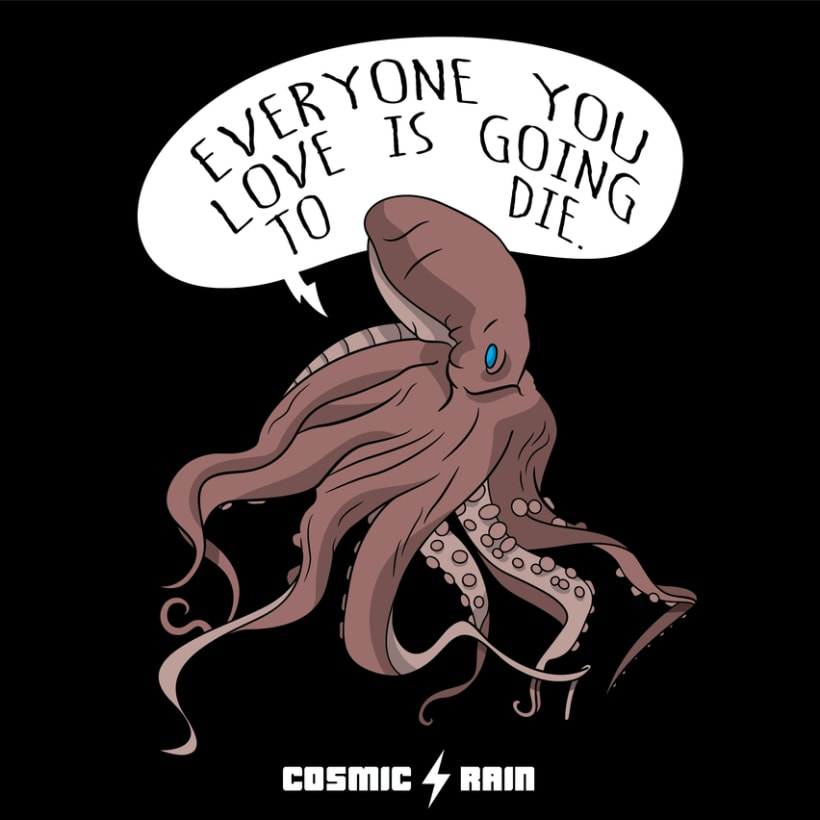 Cosmic Rain t-shirt designs 1