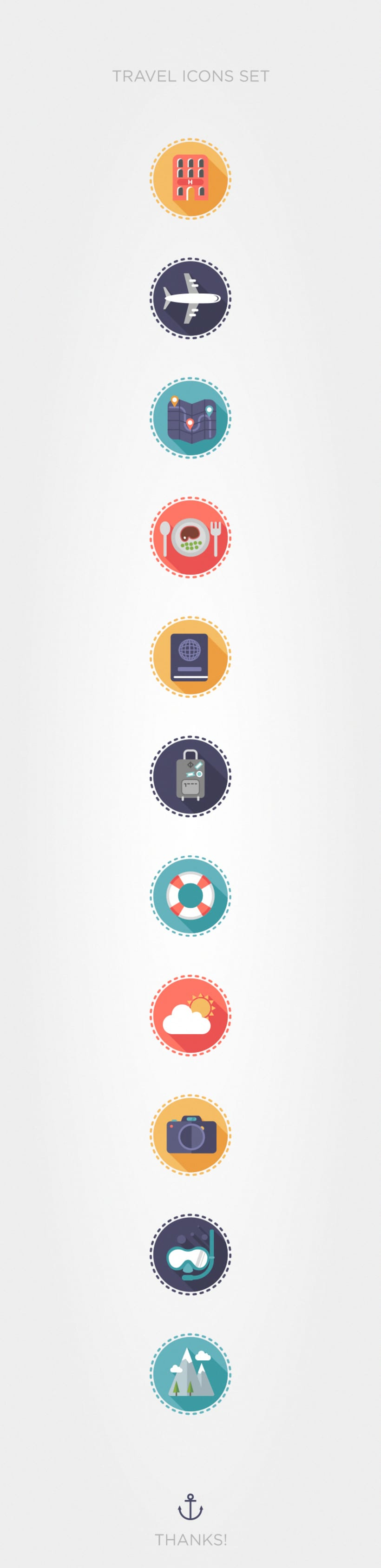 Travel icons set -1