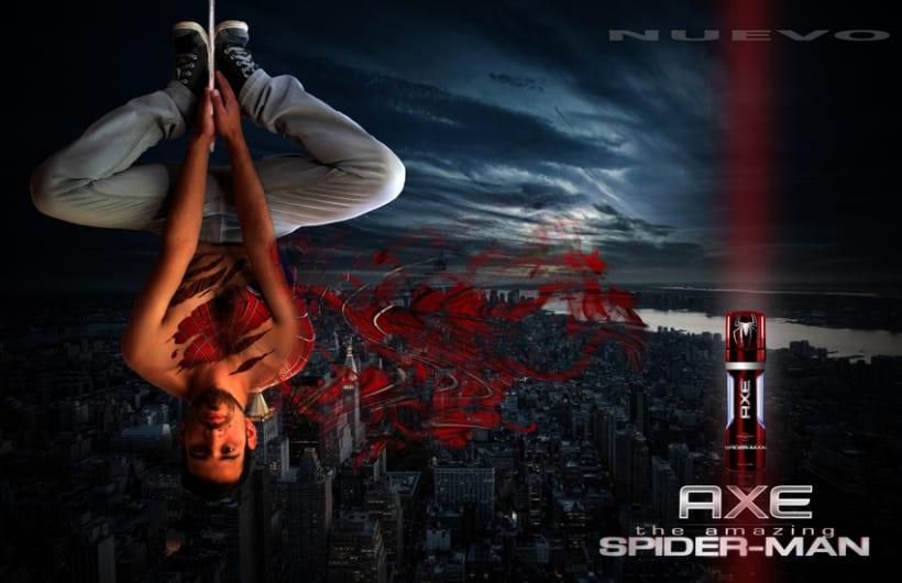 Campaña Axe Spiderman 0