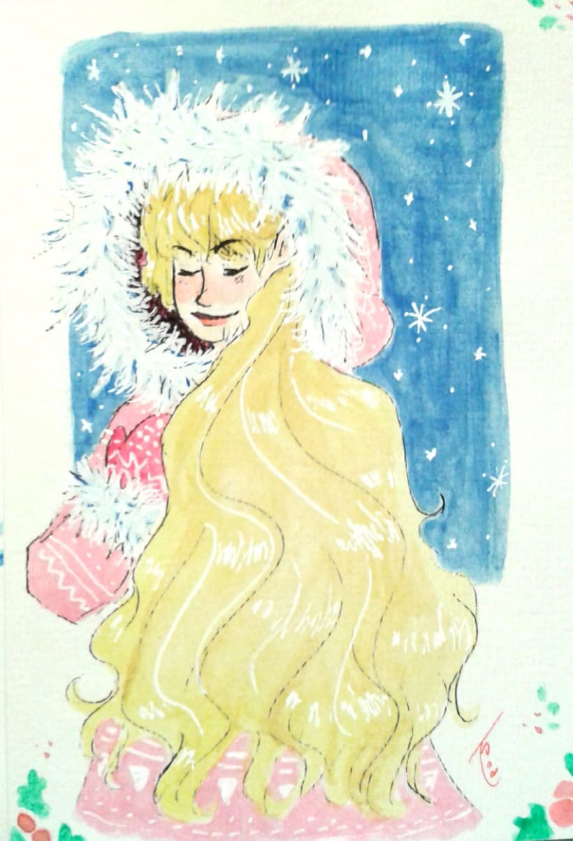 Watercolours Christmas Cards 3