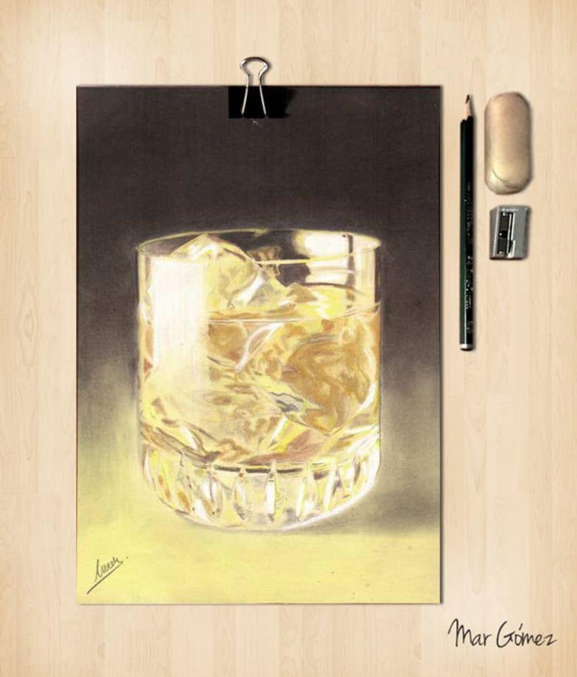 Lápices de colores. Whisky 1