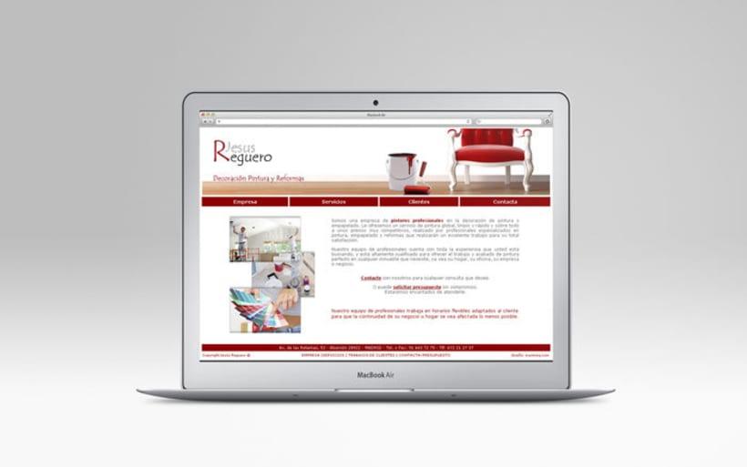 Diseño Web. Pintura y reformas Jesus Reguero -1