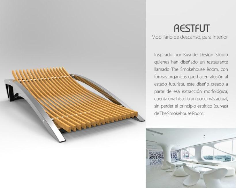 Restfut, Mobiliario para descanso 0