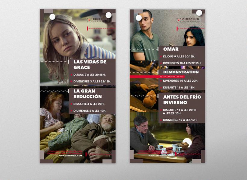 DISEÑO CARTELERÍA CINECLUB VILAFRANCA 9