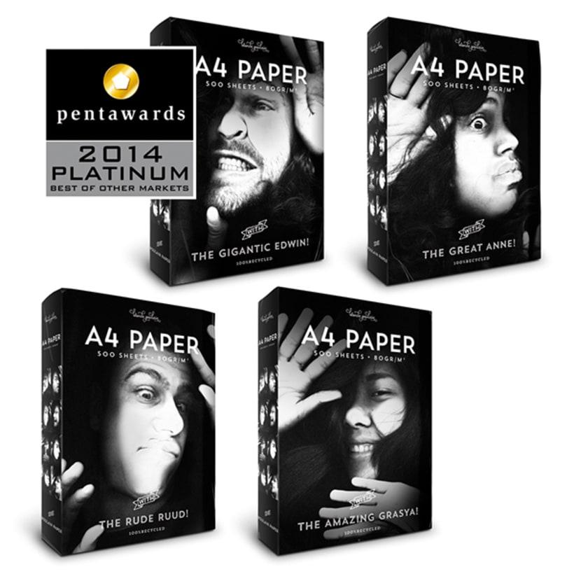 A4 Paper Packaging *Pentawards Platinum 1