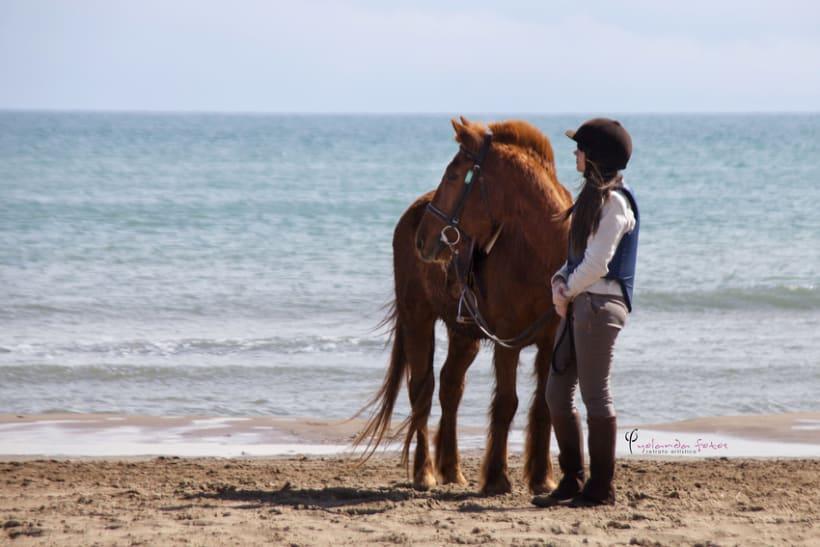 Reportaje - en caballo por la playa 7