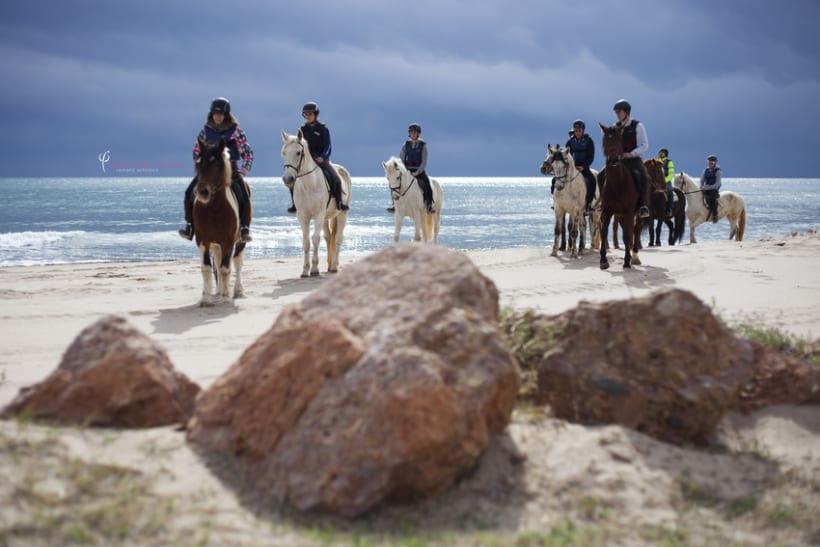 Reportaje - en caballo por la playa 9