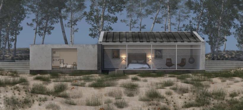 Infoarquitectura. Casa en la playa. Interior y exterior -1