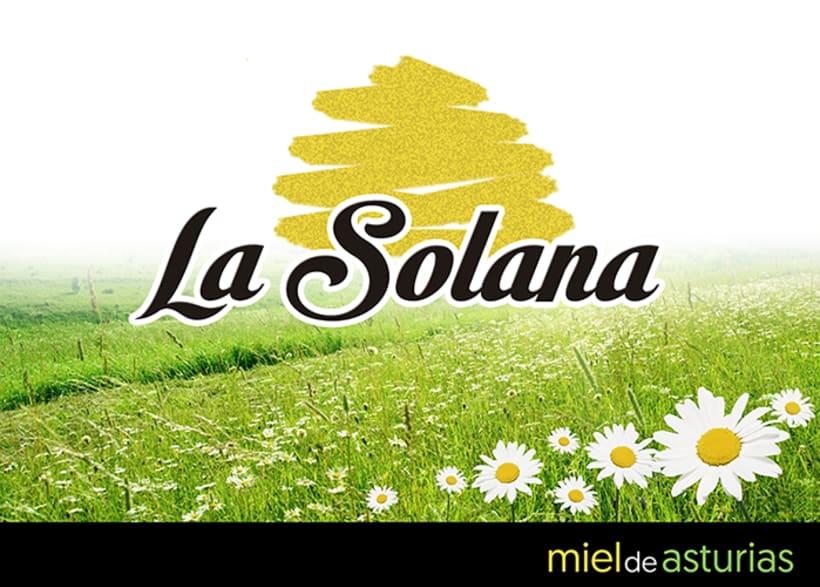 Packaging  e identidad corporativa Miel la Solana. 0